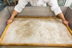 Традиционный papermaking Стоковые Фотографии RF