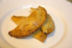 Традиционный pasty на плите Стоковые Фотографии RF