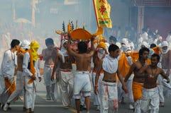 Традиция вегетарианского фестиваля Пхукета захолустная стоковое фото