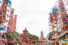 Традиция Slakpat Lanna на Wat Phra которое Hariphunchai стоковые фотографии rf