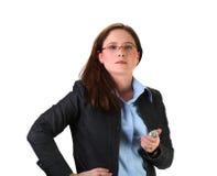 требовательная женщина Стоковое Фото