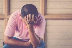 Тревоженая тоскливость чувства человека Стоковая Фотография RF