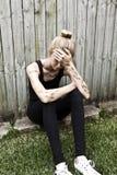 Тревожность депрессии психических здоровий предназначенная для подростков Стоковое Изображение RF