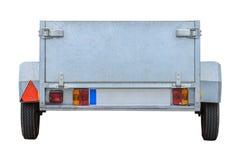 Трейлер автомобиля изолированный на белой ПРЕДПОСЫЛКЕ Стоковое Изображение RF
