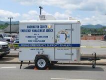Трейлер агенства управления в чрезвычайных ситуациях стоковая фотография rf