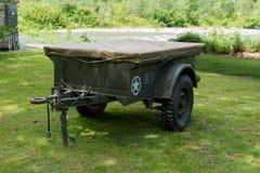 Трейлер для военного транспортного средства Стоковые Изображения