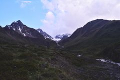 Трек в горах Стоковое Изображение