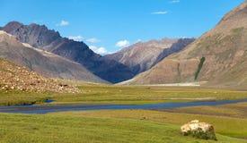 Трек от Kargil к Padum - Zanskar, Ladakh Стоковая Фотография RF