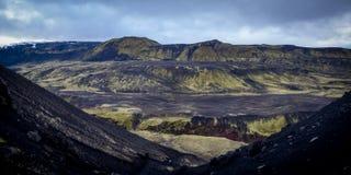 Трек Laugavegur - Исландия стоковое изображение rf