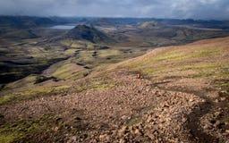 Трек Laugavegur - Исландия Стоковое фото RF