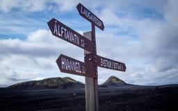 Трек Laugavegur - Landmannalaugar к Thorsmork стоковое фото