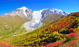 Трек Mestia-Ushguli, Svaneti Georgia Стоковые Фото