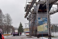 Тренажер для тренировки воинских parachutists перед Стоковое фото RF