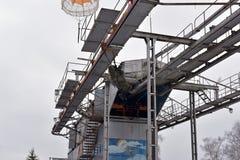 Тренажер для тренировки воинских parachutists перед Стоковое Изображение RF