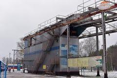 Тренажер для тренировки воинских parachutists перед Стоковое Изображение