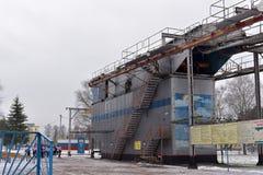 Тренажер для тренировки воинских parachutists перед Стоковые Фото