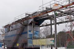 Тренажер для тренировки воинских parachutists перед Стоковая Фотография