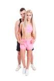 Тренеры и пары фитнеса человека и женщины Стоковое Изображение RF