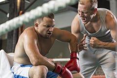 Тренер бокса кричащий Стоковые Фотографии RF