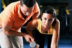тренер гимнастики личный Стоковая Фотография RF