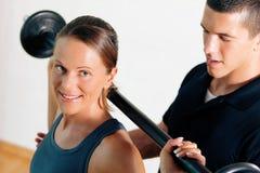 тренер гимнастики личный Стоковые Фото