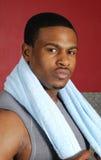 тренер полотенца афроамериканца Стоковые Фото