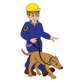 Тренер собаки Стоковые Фотографии RF