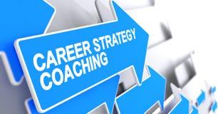 Тренировать стратегии карьеры - ярлык на голубой стрелке 3d бесплатная иллюстрация