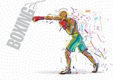 Тренировка бокса Стоковое Изображение RF