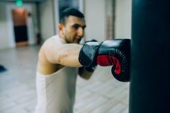 Тренировка бокса тренировка ` s чемпиона стоковое изображение