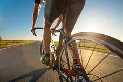 Тренировка велосипеда на дороге Стоковые Изображения RF