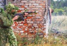 тренировка воинов Стоковая Фотография