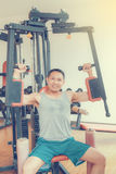 Тренировка в гимнастике Стоковое фото RF