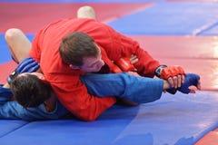 Тренировка в самбо Стоковое Изображение