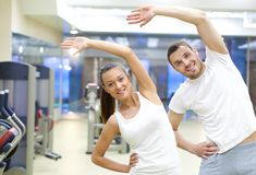 Тренировка в спортзале Стоковые Фотографии RF