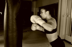 тренировка гимнастики боксера Стоковые Изображения