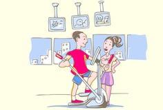 тренировка гимнастики кареты бесплатная иллюстрация
