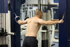 тренировка гимнастики пригодности Стоковое фото RF