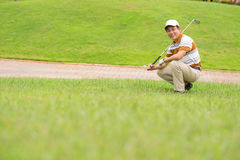 Тренировка гольфа Стоковые Изображения RF