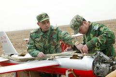 Тренировка группы зенитной артиллерии aeromodelling Стоковые Фотографии RF