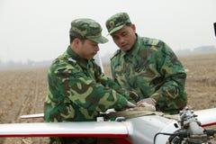 Тренировка группы зенитной артиллерии aeromodelling Стоковое Изображение RF