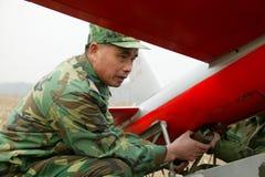 Тренировка группы зенитной артиллерии aeromodelling Стоковое Фото