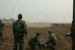 Тренировка группы зенитной артиллерии aeromodelling Стоковая Фотография RF