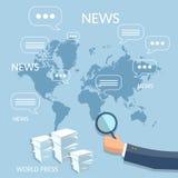Тренировка глобальной концепции отчете о новостей финансовой корпоративная онлайн Стоковые Изображения RF