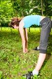 тренировка девушки Стоковое фото RF
