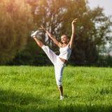 Тренировка женщины спорта Стоковое Фото