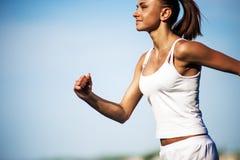 Тренировка женщины спорта Стоковое фото RF