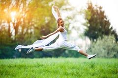 Тренировка женщины спорта Стоковые Изображения