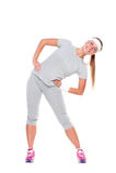 Тренировка женщины Smiley Стоковое Изображение RF