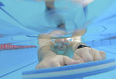 Тренировка заплывания спортсмена Стоковое Изображение